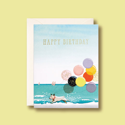 Card - Splashing Dog Birthday by Joojoo Paper
