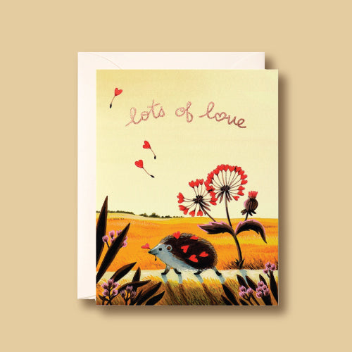 Card - Hedgehog Love by Joojoo Paper