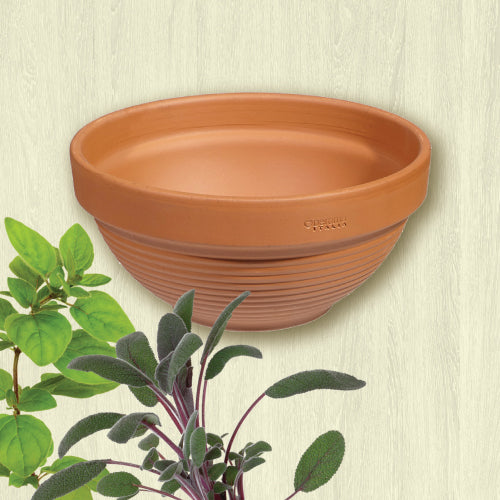 "Terracotta Clay Ridged Bowl - 15cm (5.9"")"