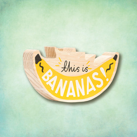 Art Print on Wood - This is Bananas