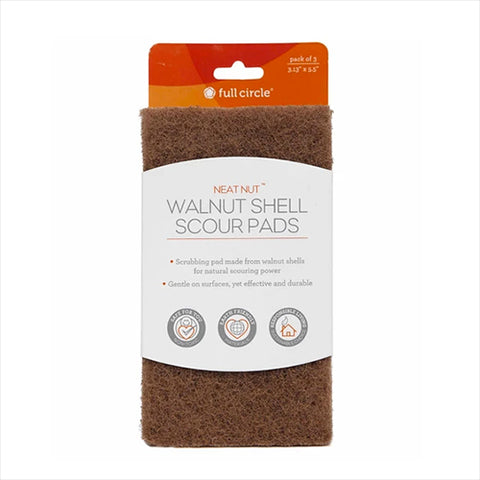 Scour Pads - Neat Nut Walnut 3-Pack