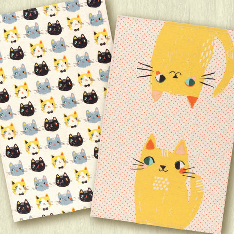 Meow Meow Dish Towels - Set of 2