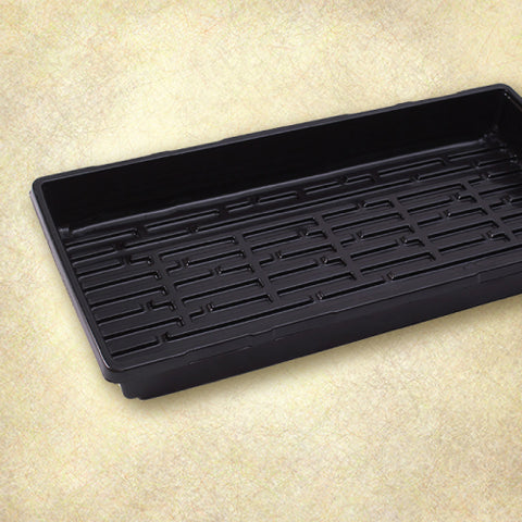 Double Thick Heavy Duty Plastic 1020 Tray - Black - No Holes