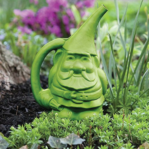 'Gnute' the Gnome Watering Can - Green