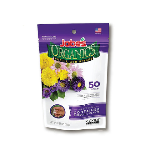 Jobe's Organics Fertilizer Spikes - Containers and Bedding Plants 3-5-6