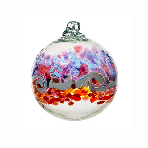 Kitras Art Glass Colour Wave Ball - Southern Sunset