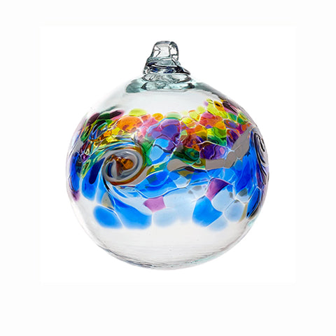 Kitras Art Glass Colour Wave Ball - Winter Shadow