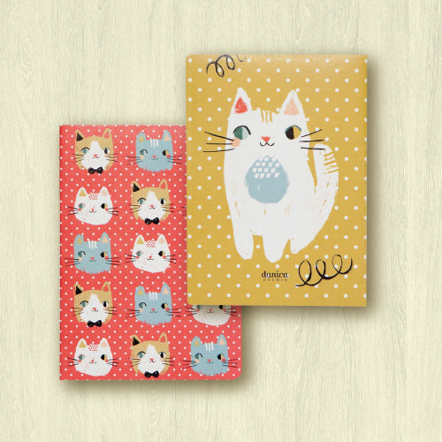 Meow Meow Notebooks - Set of 2