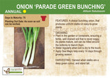 Onion 'Parade Green Bunching' (Live Plant)