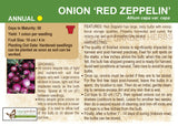 Onion 'Red Zeppelin' (Live Plant)