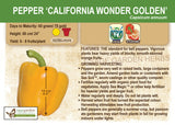 Pepper, California Wonder Golden (Sweet) (Live Plant)