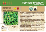 Pepper 'Padron' (Live Plant)