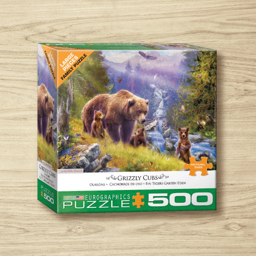 Puzzle - Grizzly Cubs - 500 Pieces