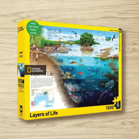 Puzzle - National Geographic - Layers Of Life - 1000 Pieces