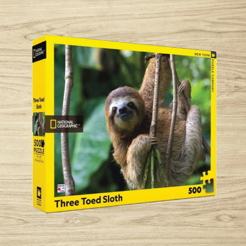 Puzzle - National Geographic - Three Toed Sloth - 500 Pieces