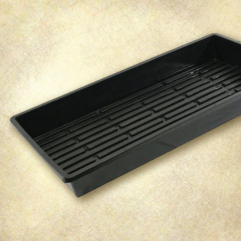 Quad Thick Heavy Duty Plastic 1020 Tray - Black - No Holes