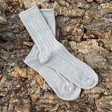 Socks - Women's Grey Lambswool
