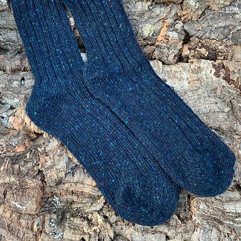 Socks - Men's Blue Wool