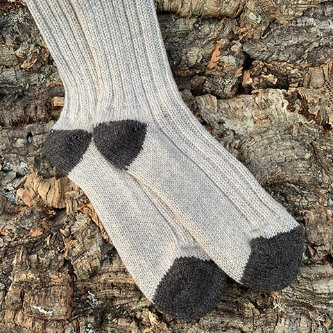 Socks - Men's Merino Wool Oatmeal/Brown