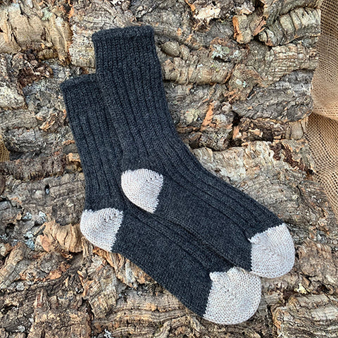 Socks - Women's Merino Wool Charcoal/Parsnip
