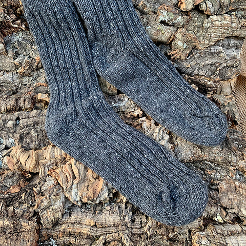 Socks - Men's Dark Grey Wool