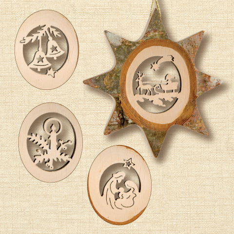 Black Forest Wood Ornament - Star
