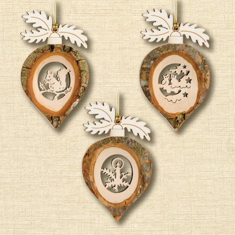 Black Forest Wood Ornament - Acorn