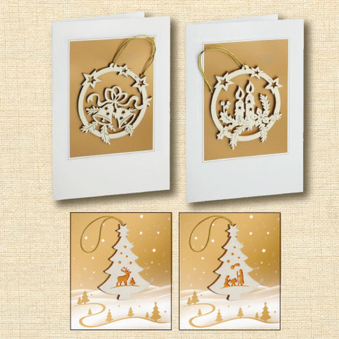 Black Forest Holiday Card with Wood Ornament