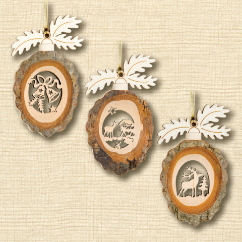 Black Forest Wood Ornament - Pinecone