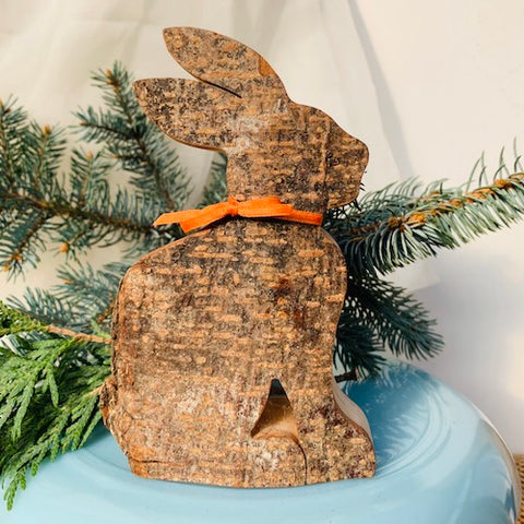 Black Forest Wood Decor Piece - Bunny