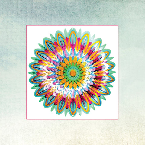 SpinFinity Designs Wind Spinner - Floral Mandala - Large