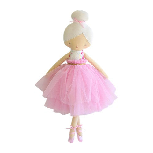 Amelie Ballet Doll - Bows & Roses Pink
