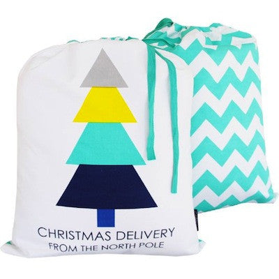 Santa Sack - Chevron Green