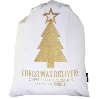 Santa Sack - Gold Tree