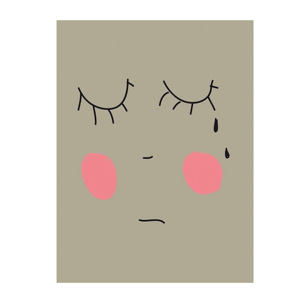 Hugo Loves Tiki - Sad Face Poster