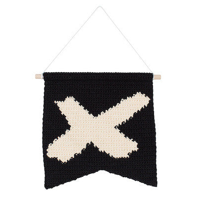 Black and Cream Cross Wall Hanging