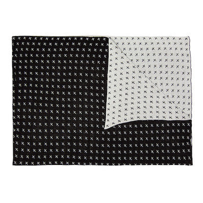 Black Cross Blanket
