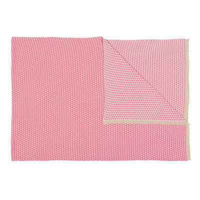 Pink and Cream Triangle Blanket