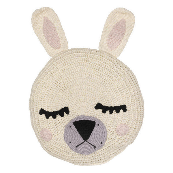 Cream Bunny Snuggle Cushion