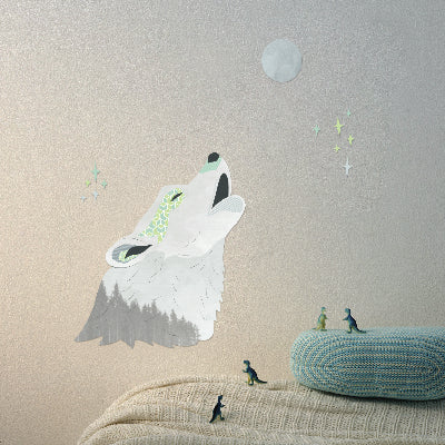 Wall Stickers Howling Wolf