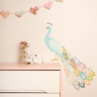Wall Stickers Peacock Plumage