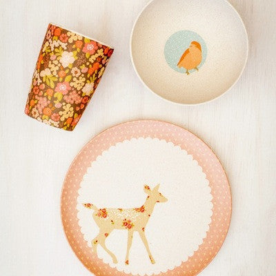 Bamboo Dinner Set - Woodland Critters