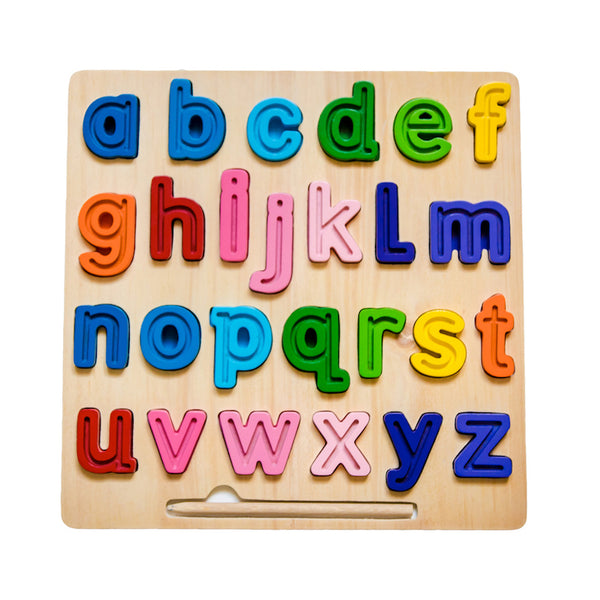 Lowercase Chunky and Tracing Puzzle