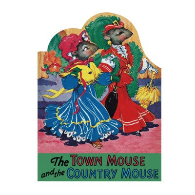 Laughing Elephant Town Mouse and Country Mouse Shape Book