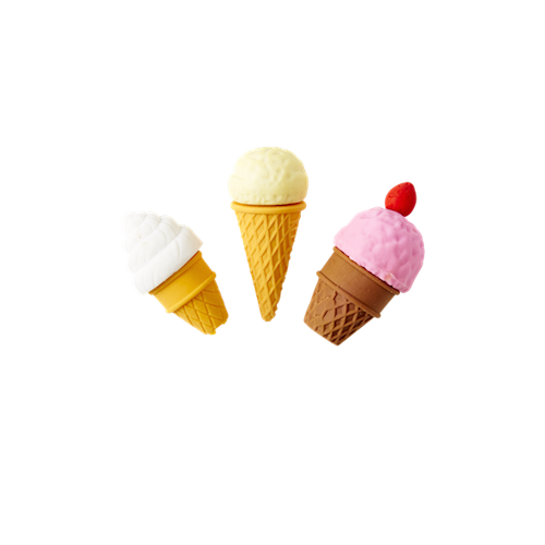 Ice Cream Shaped Erasers