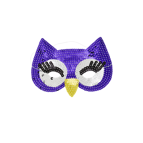 Kids Sequin Owl Mask