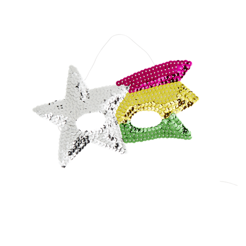 Kids Sequin Shooting Star Mask