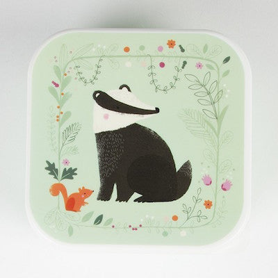 Snack Box Woodland Badger Green