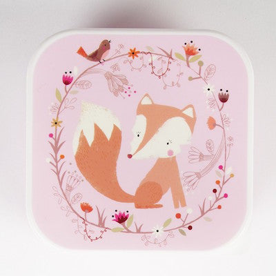 Snack Box Woodland Fox Pink