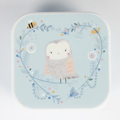Snack Box Woodland Owl Blue